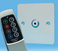 V-Pro IR, 1 Gang, 100 Watt Remote Control/Touch LED Dimmer, Ultra Flat Polished Chrome + Remote